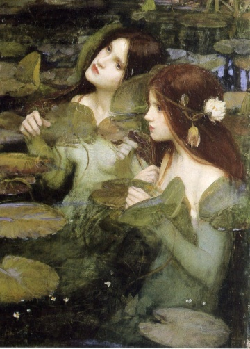 John William Waterhouse hylas and the nymphs, detail, 1896