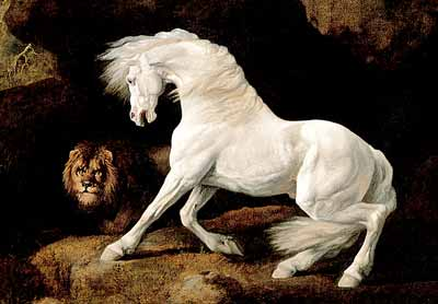 Stubbs Horse Frightened by a Lion