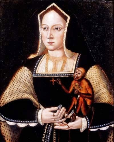 1525 Catherine of Aragon (1485–1536) by Lucas Horenbout (1495-1544)