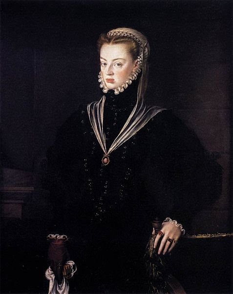 1557 Alonso Sanchez Coello (1532-1588) Infanta Juana of Spain wearing 1 glove