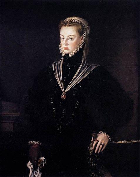 1557 Alonso Sanchez Coello (1532-1588) Infanta Juana of Spain wearing 1 glove