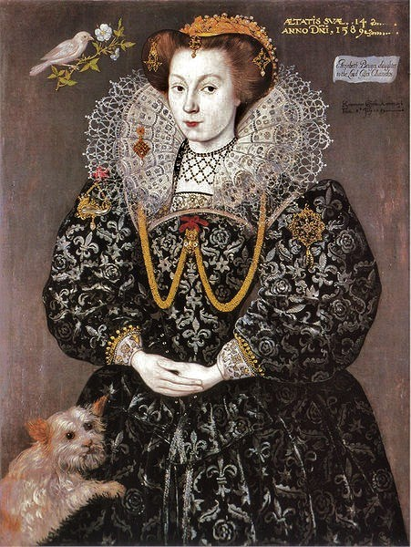 1589 Elizabeth Brydges, later Lady Kennedy, daughter of Lord Chandos and maid of honour to Elizabeth I of England, aged 14 by Hieronimo