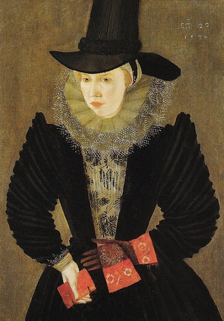 1596 Joan, 1st wife of Edward Alleyn by an artist of the British School