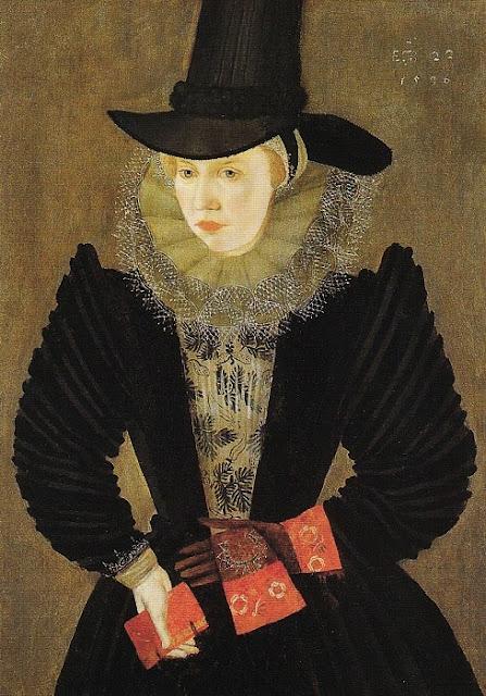 1596 Joan, 1st wife of Edward Alleyn by an artist of the British School