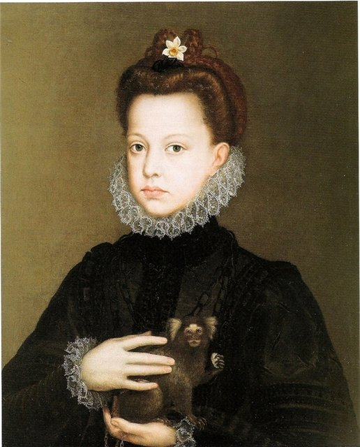 Infanta Isabella Clara Eugenia (1566–1633) by Alonso Sanchez Coello (Spanish painter, c 1531-1588)