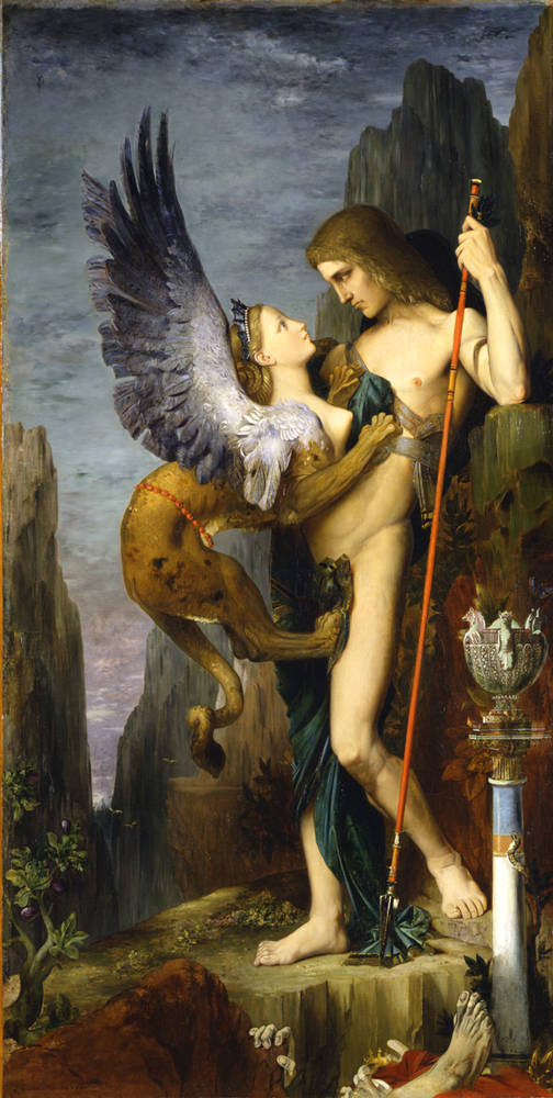 Gustave Moreau, Oedipus and the Sphinx 1864
