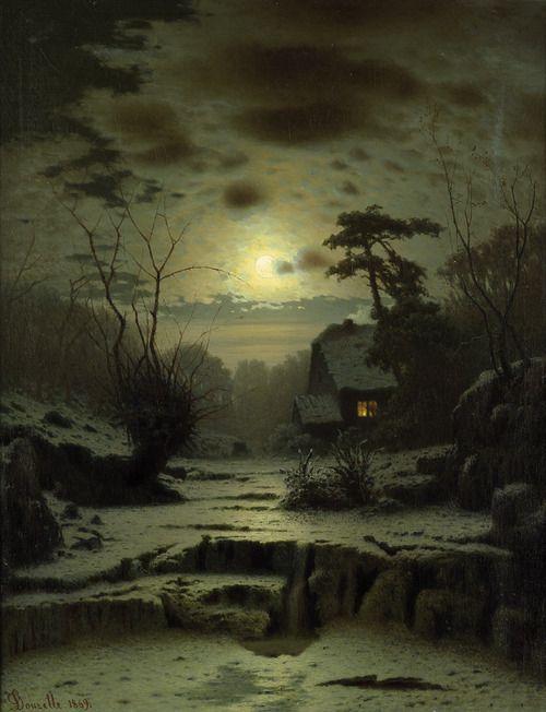 Louis Douzett~Winter Landscape