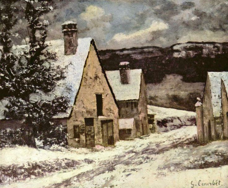 Village Street in Winter, 1865-1870 Gustave Courbet
