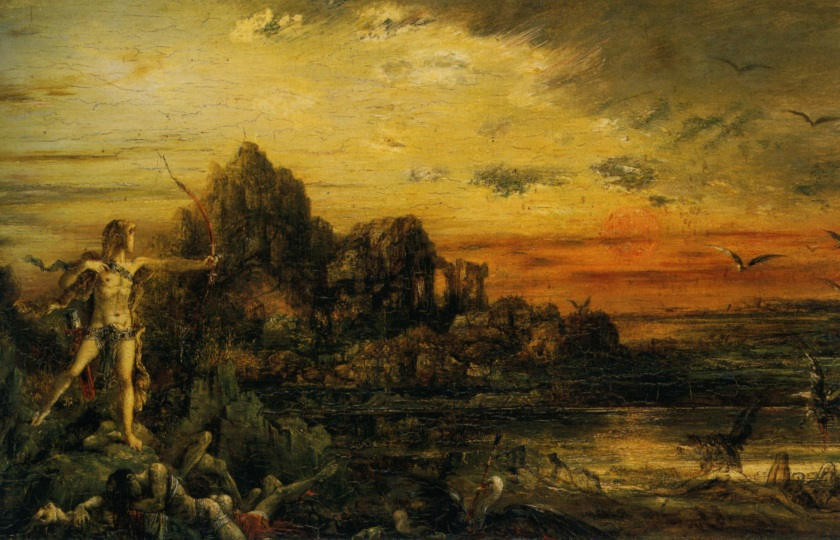 Hercules at the Lake Stymphale Gustave Moreau