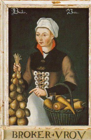 Kvinna med lök