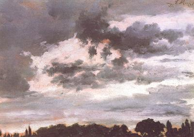 Study of Clouds, Adolph von Menzel