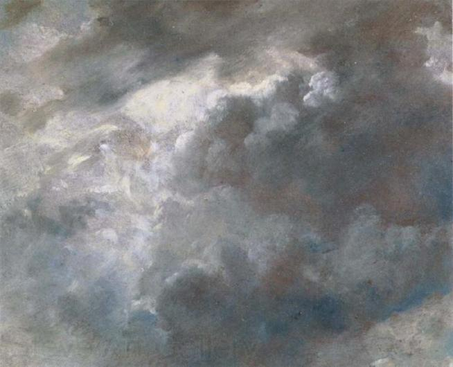 Sun bursting through dark clouds, John Constable