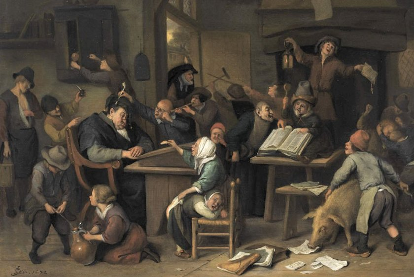 Jan_Steen_school_class_with_a_sleeping_schoolmaster,_1672 (1)