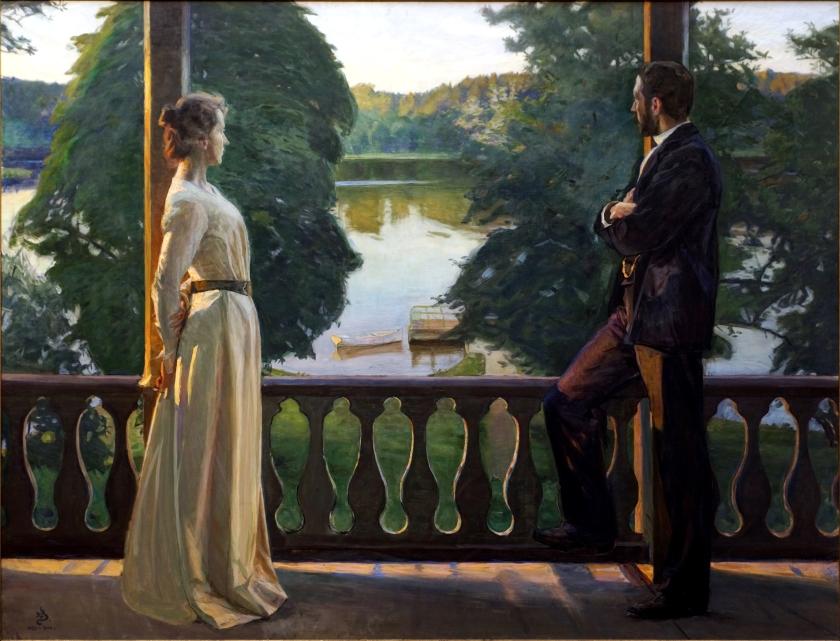 Nordisk_sommarkväll_(1889-1900),_målning_av_Richard_Bergh