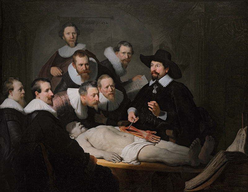 Rembrandt van Rijn the anatomy lesson of Dr. Nicolaes Tulp 1632