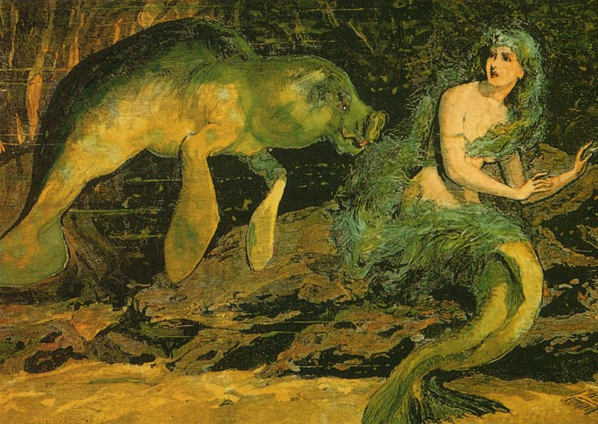 Sirenian and mermaid (1)