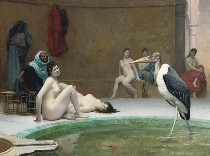Jean-Leon Gerome Le Marabout in the Harem Bath