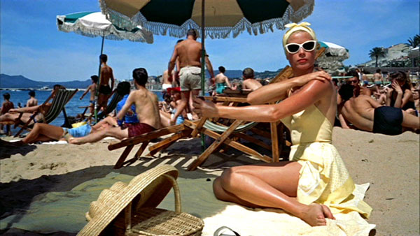 Yellow swimsuit Grace Kelly TO CATCH A THIEF