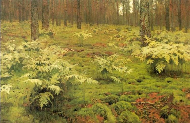 ferns-in-a-forest-1895 Isaac Levitan