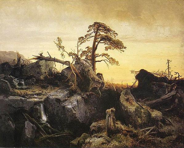 august_cappelen_utdoende_urskog_1852