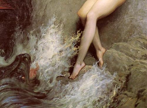 "Gustave Doré, ""Andromeda"" (detalj), 1869"