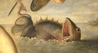 "Jacopo Palma, ""Perseus Rescuing Andromeda"" (detalj), ca 1610"